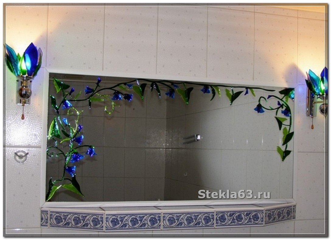 Как декорировать зеркало в ванной своими руками